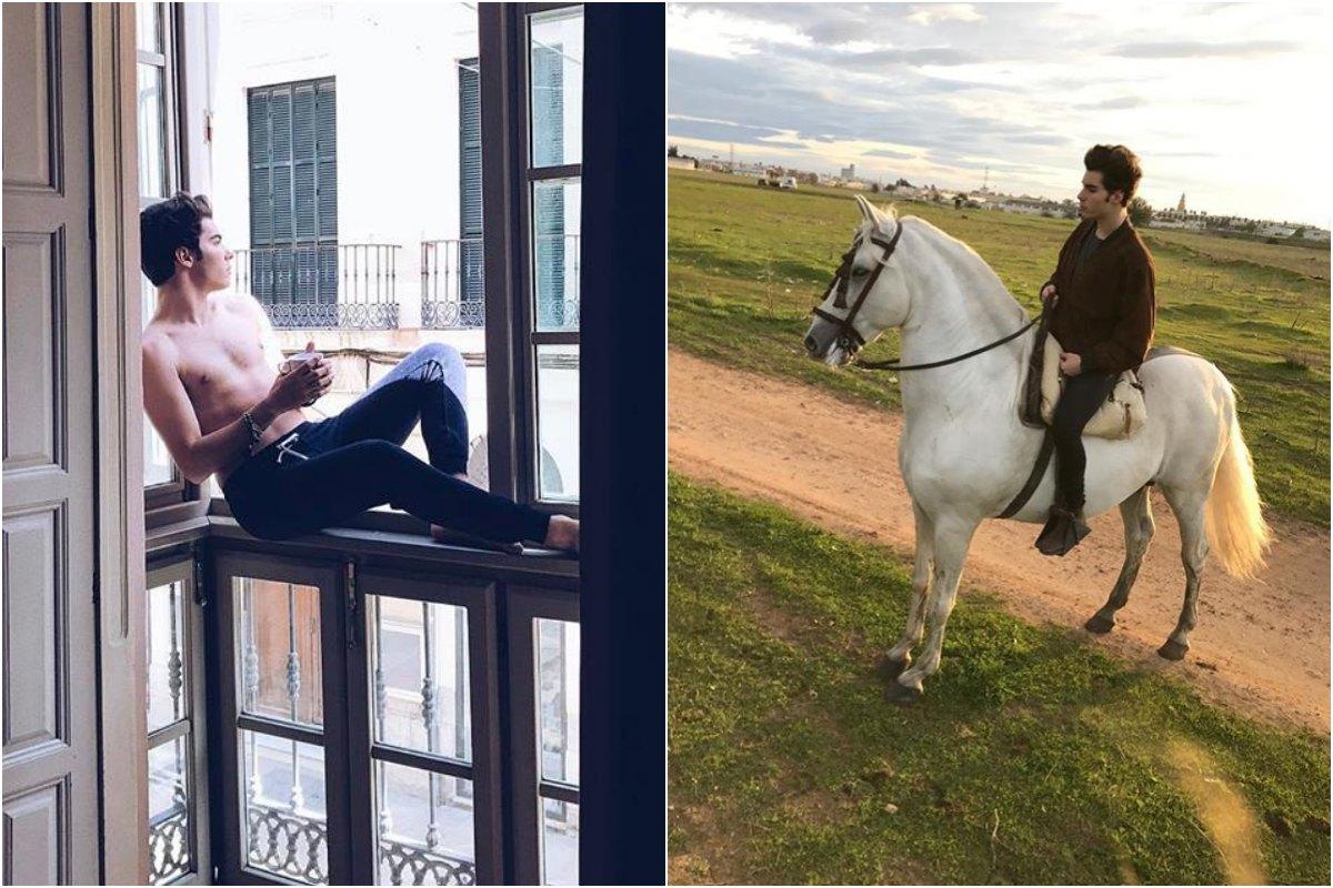 Sus giras musicales llevan a los hermanos a hacer parada en numerosos hoteles. Aunque también sacan tiempo para sus 'hobbies', como montar a caballo. Foto: Instagram.