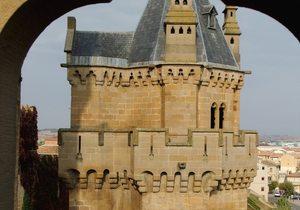 Torre Ochavada, Palacio Real de Olite.