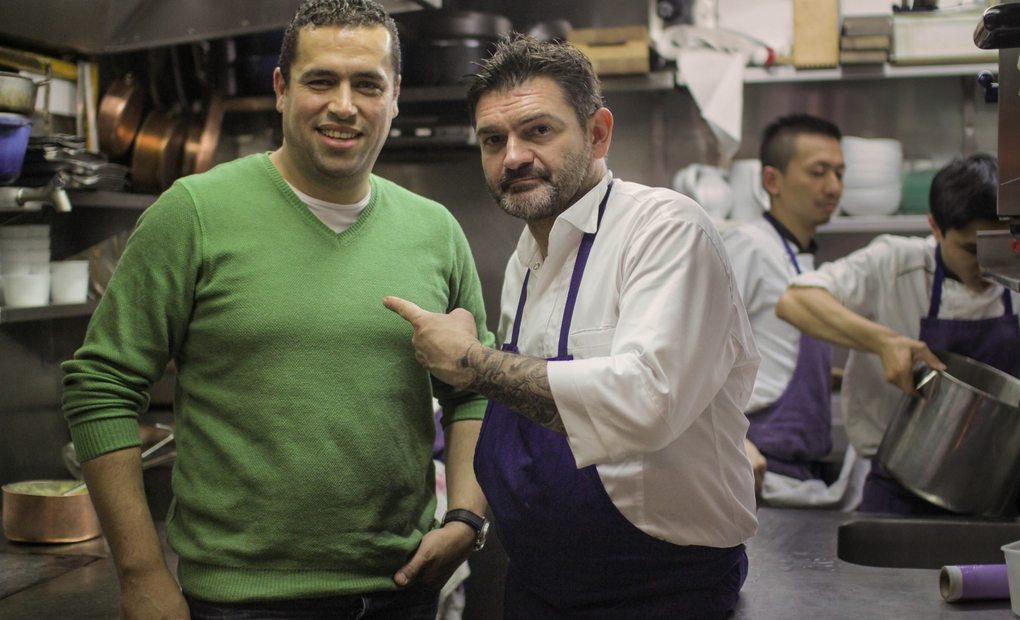 Stephane Jego junto a Mohammed. Foto: Facebook