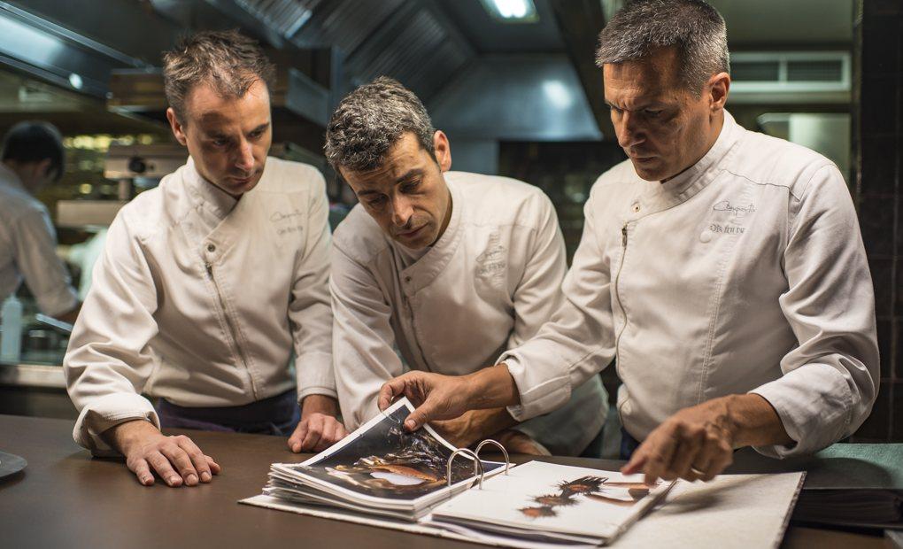 Apertura_Restaurante Disfrutar. Los tres socios: Eduard Xartruch, Mateu Casañas y Oriol Castro (de izquierda a derecha). Foto: Sofía Moro