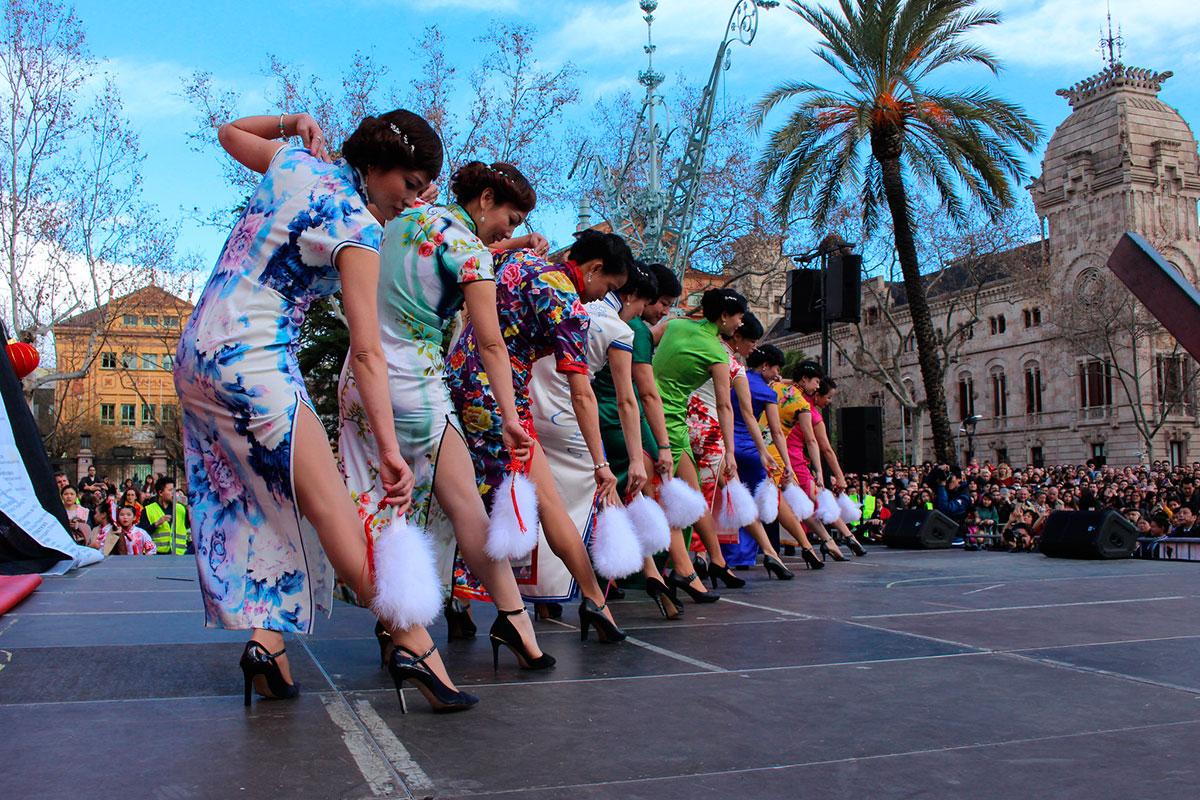 Espectáculo con motivo del Año Nuevo en la Ciudad Condal. Foto: Institut Confuci de Barcelona.