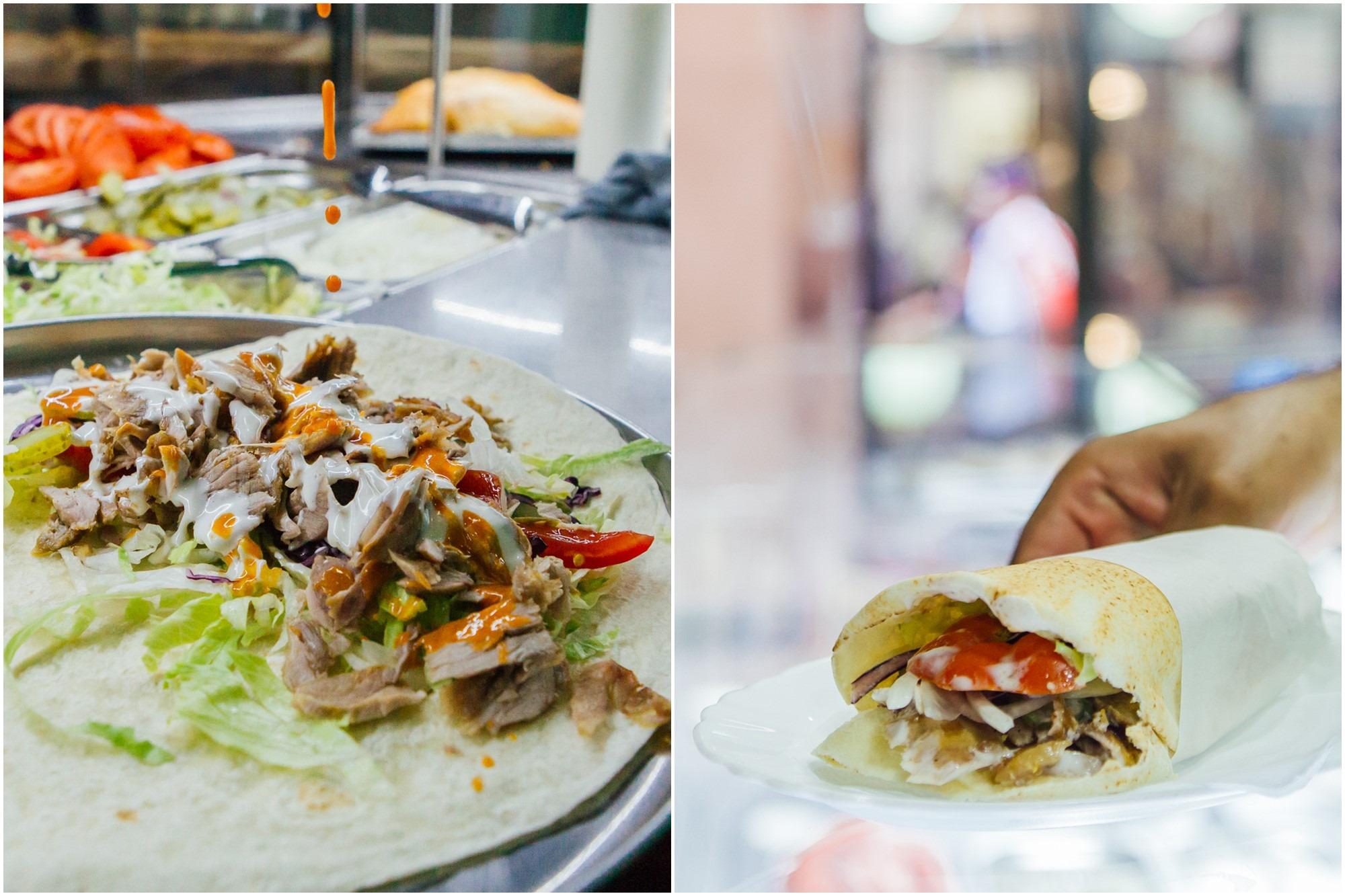 Elaboración del durum, una de las versiones más populares del kebab.