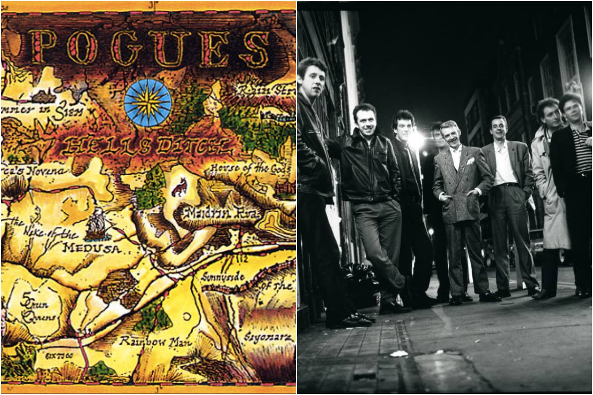 Los angloirlandeses Pogues y el disco 'Hells's ditch'.