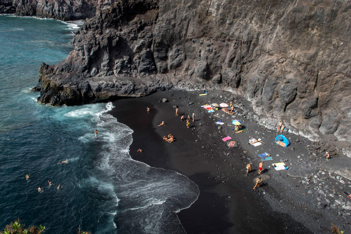 La playa de la Zamora Chica en Santa Cruz de La Palma.