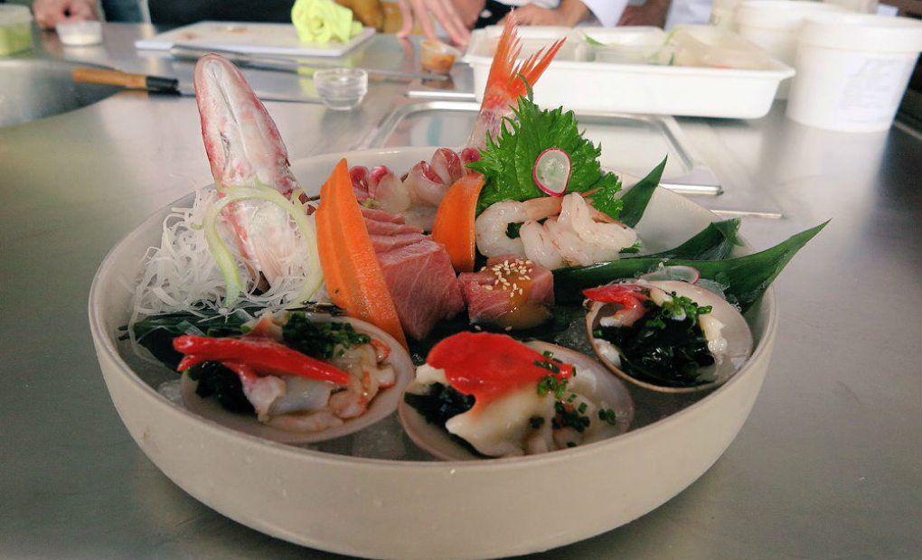 Plato de Álvaro Arbeloa y Toshio Tsutsui, del restaurante Takumi, uno de los referentes de la cocina japonesa