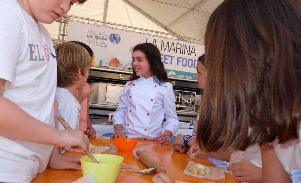 Los niños también contaron con actividades para ellos durante el Málaga Gastronomy Festival