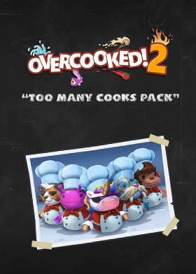 """Overcooked! 2  DLC """"Too Many Cooks"""" Steam Key cover"""