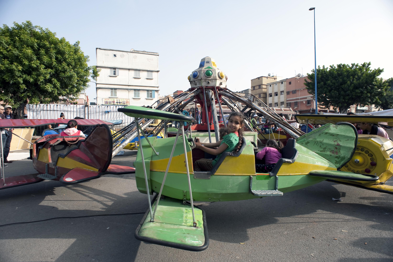 Ré-activation manège Respiro Parc Yasmina Musée Collectif de Casablanca Hay Mohammadi Mai 2016. Photo: Alexandra Frankewitz