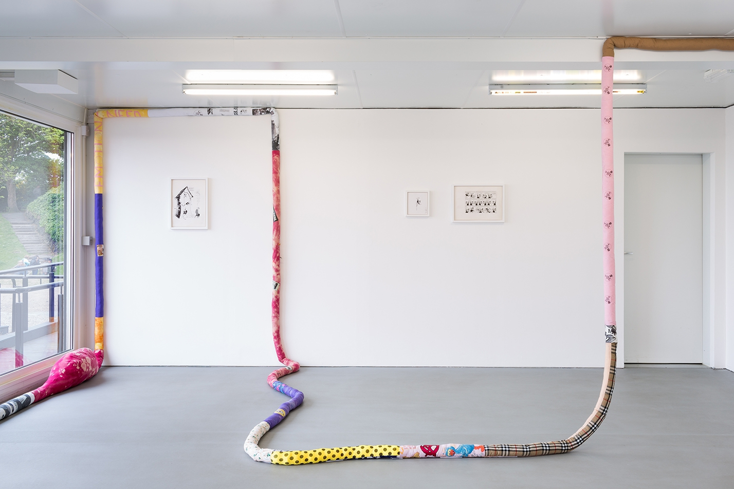 *Emotional Need*, an exhibition by Adam Lewis Jacob with works by Donald Rooum, installation view, 2017. Photo by Tom Nolan.