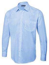 Uneek UC713 Mens Tailored Fit Long Sleeve Poplin Shirt