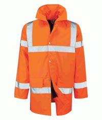 Black Knight Tristan Orange 3/4 Length Jacket