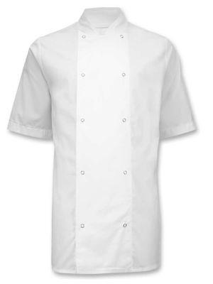 Alexandra HO10 Short Sleeved Stud Fastening Chefs Jacket