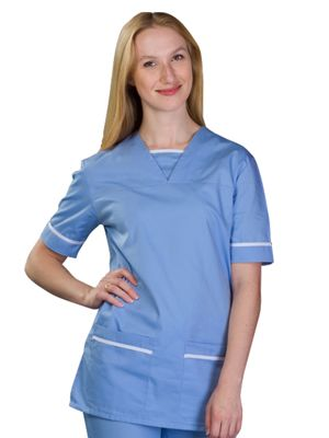 Key Scrubs 534TU Scrub Top with Trim
