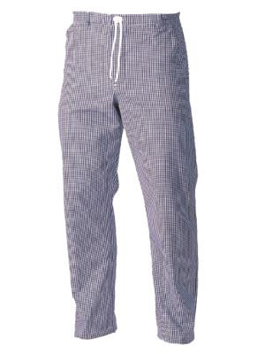Fusion CCTR1-BC Unisex Blue Check Chefs Trousers