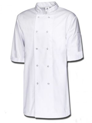 Tibard CICJRS0193 Short Sleeve Ring Stud Chef Jacket