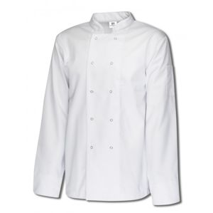 Tibard CJRS0193 Long Sleeve Ring Stud Chef Jacket