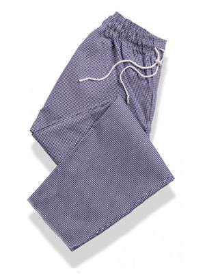 Tibard CT3082-GNG Gingham Drawstring Chef Trouser