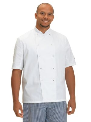 Dennys DD08S Short Sleeve Chefs Jacket