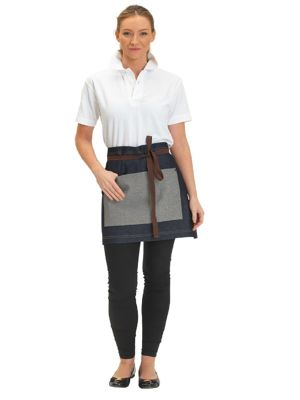 Dennys DP103 Denim Waist Apron with Contrast pocket
