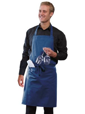 Dennys DP55 Polycotton Bib Apron with Pocket