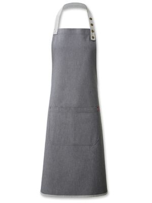 Oliver Harvey OHAPP0596GD Grey Denim Contrast Bib Apron