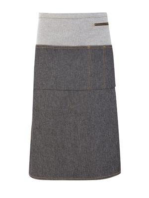 Oliver Harvey OHAPP061903DEN Long Two Tone Denim Waist Apron