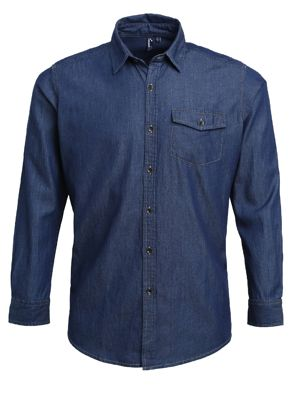 Premier PR222 Mens Denim Shirt