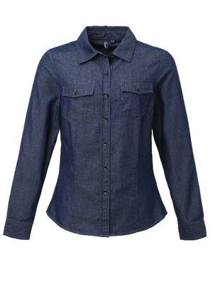 Premier PR322 Ladies Denim Shirt