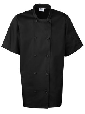 Premier PR656 Short Sleeve Chefs Jacket