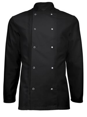 Alexandra HO11 Long Sleeved Stud Fastening Chefs Jacket