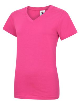 Uneek UC319 Ladies V Neck T-Shirt