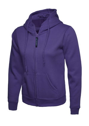 Uneek UC505 Ladies Full Zip Hooded Sweatshirt