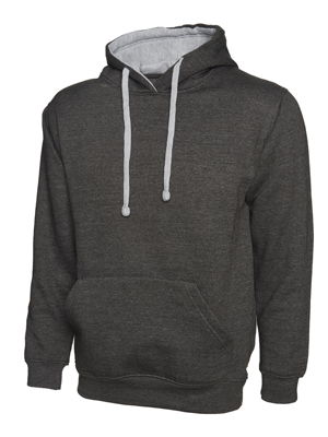 UC507 Contrast Hooded Sweatshirt by Uneek