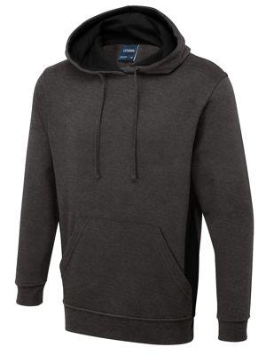 Uneek UC517 Two Tone Hooded Sweatshirt