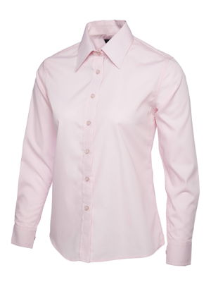 Uneek UC711 Ladies Poplin Long Sleeve Shirt