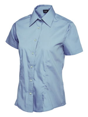 Uneek Ladies UC712 Poplin Short Sleeve Shirt