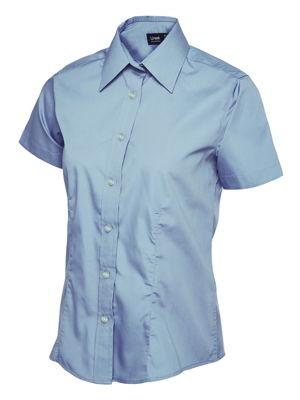 Uneek Ladies UC712 Poplin Short Sleeve Shirt