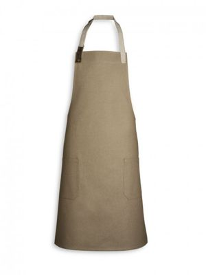 Oliver Harvey OHAPP063068HP2 Biscuit Apron with Leather Detailing