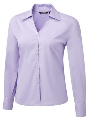 Vortex Freya LS Double Button Blouse