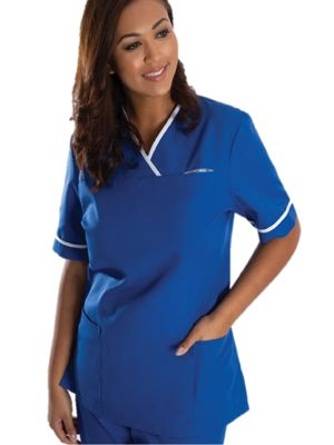 Alexandra HP21 Womens Contrast Trim Scrub Top