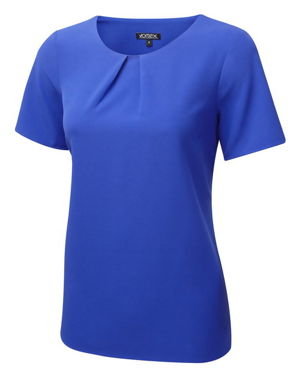 Vortex Libby Tuck Neck Comfort Stretch Shell Top