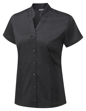 Vortex Mia Mandarin Collar Cotton Blouse