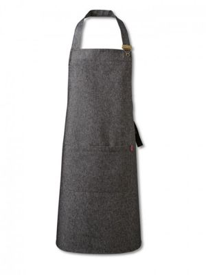 Oliver Harvey OHAPP053403DEN Black Front of House Denim Apron