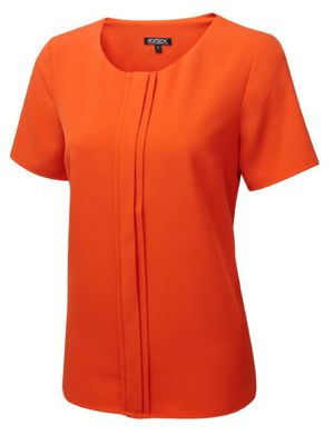 Vortex Poppy Pleat Front Comfort Shell Top