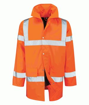 Black Knight Tristan Orange 3/4 Length Jacket