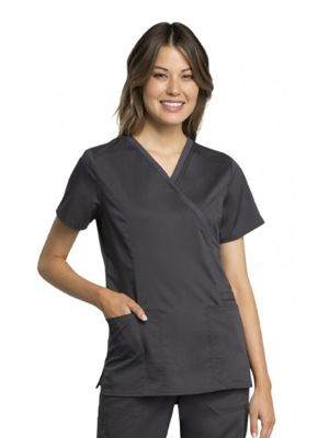 Cherokee Revolution Tech WW775AB Womens Mock Wrap Top