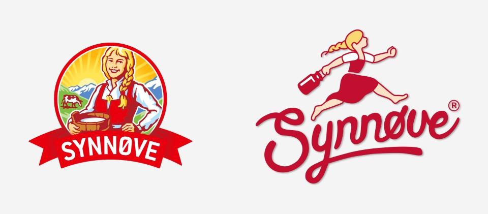 Logo før og etter