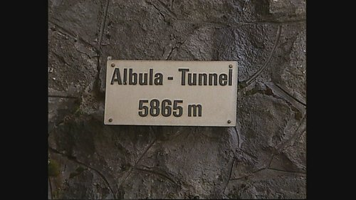 Viafier Retica - 100 onns tunnel Alvra
