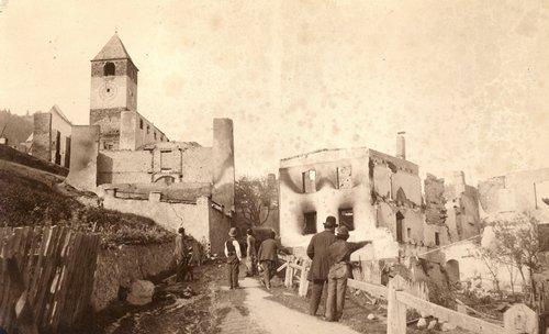 Ramosch-Davo il fö da l'on 1880