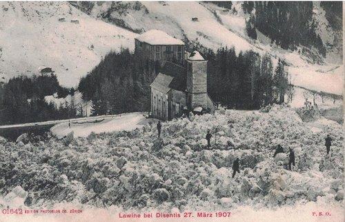 Lavina da s. Placi 1907, Disentis/Mustér